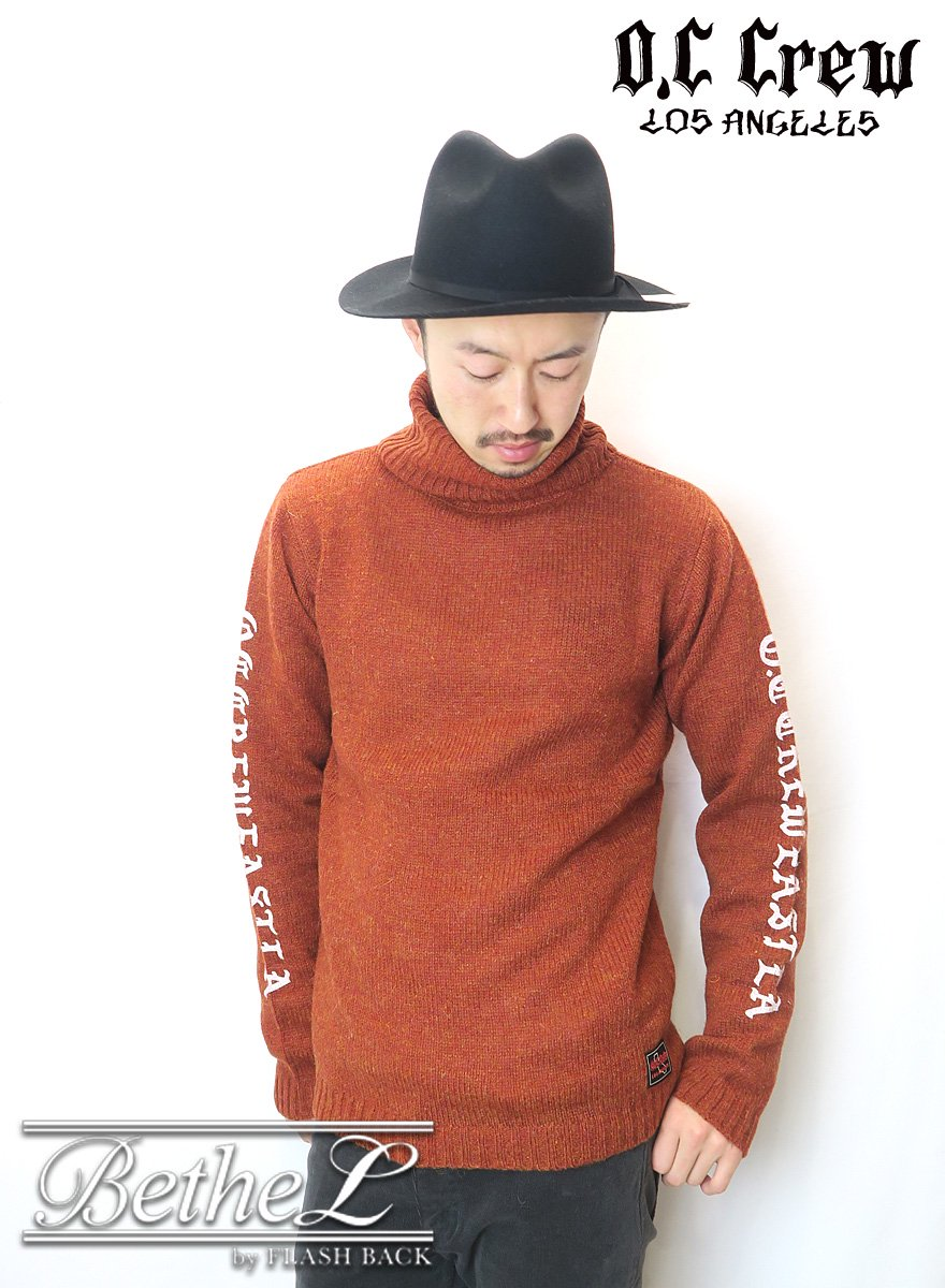 【数量限定別注】O.C CREW/オーシークルー EAST LA TURTLE NECK KNIT ORANGE