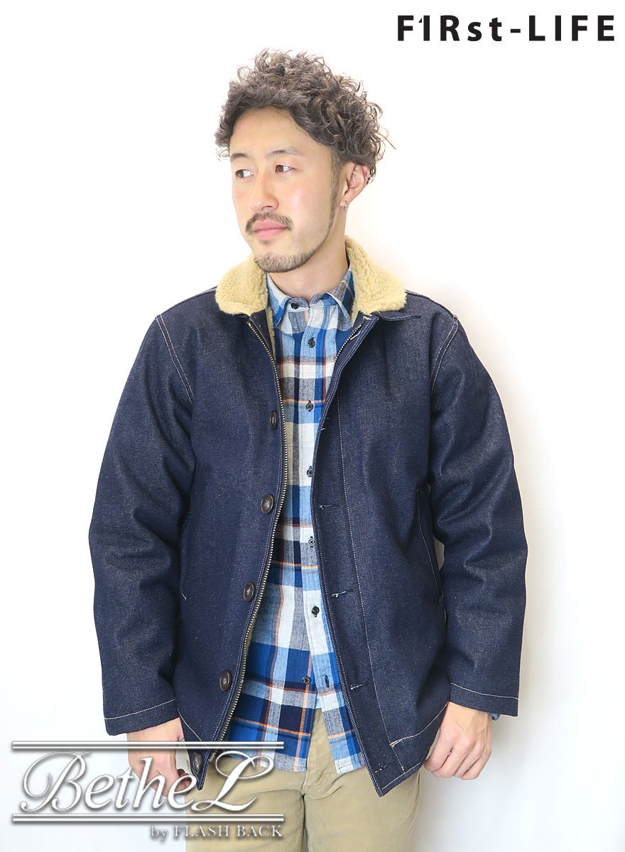 F1Rst LIFE/ファーストライフ DENIM N-1 DECK JACKET  INDIGO