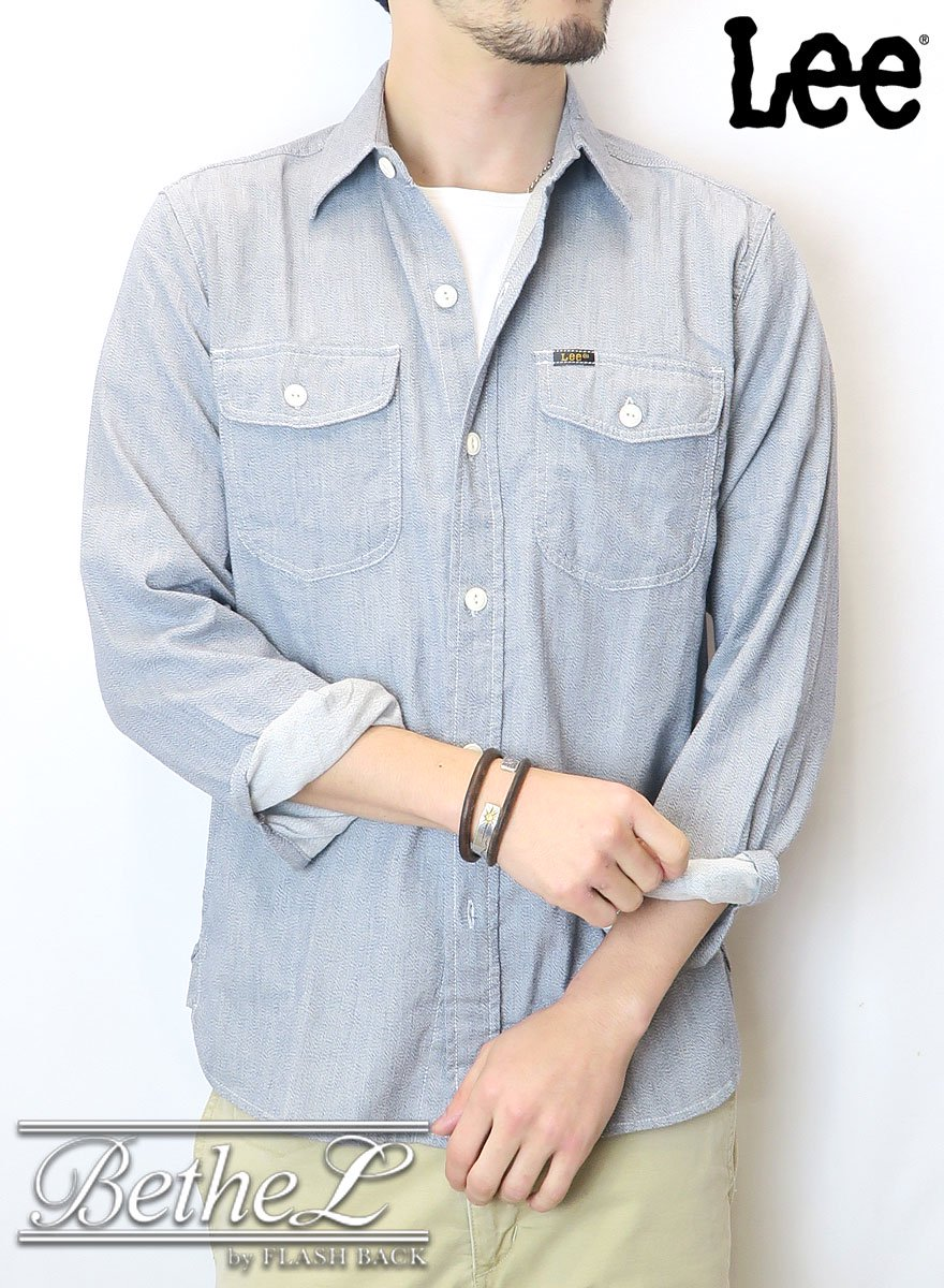 Lee/リー CHAMBRAY  WORK SHIRT WHITE