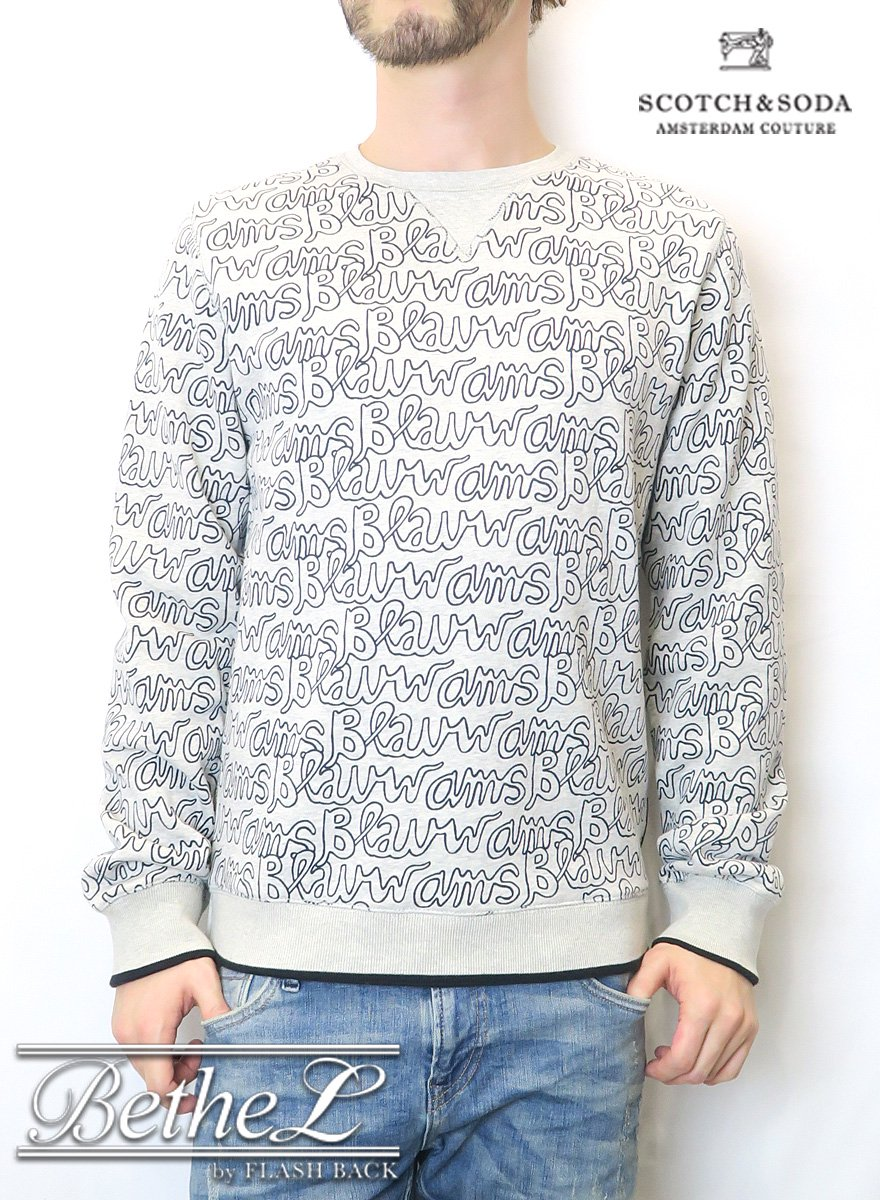 SCOTCH&SODA/スコッチ&ソーダ ALL OVER LOGOPRINTED SWEATER