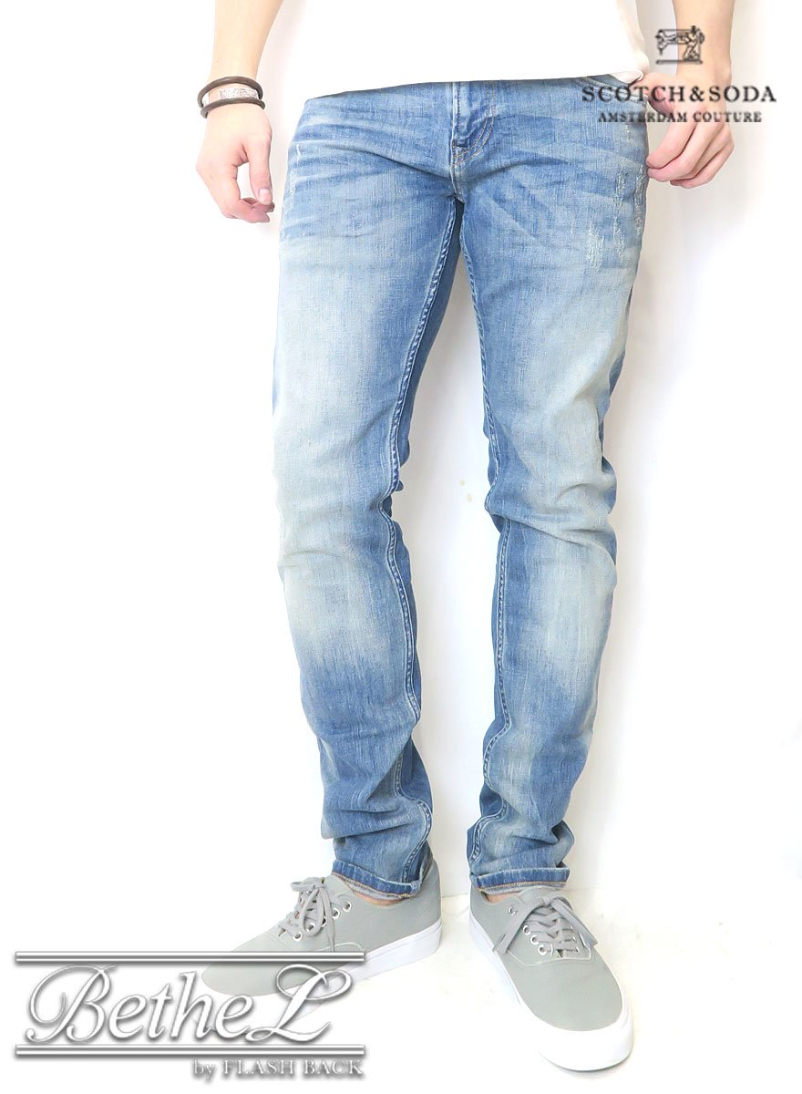 SCOTCH&SODA/スコッチ&ソーダ TYE-REPAIR SLIM CARROT FIT