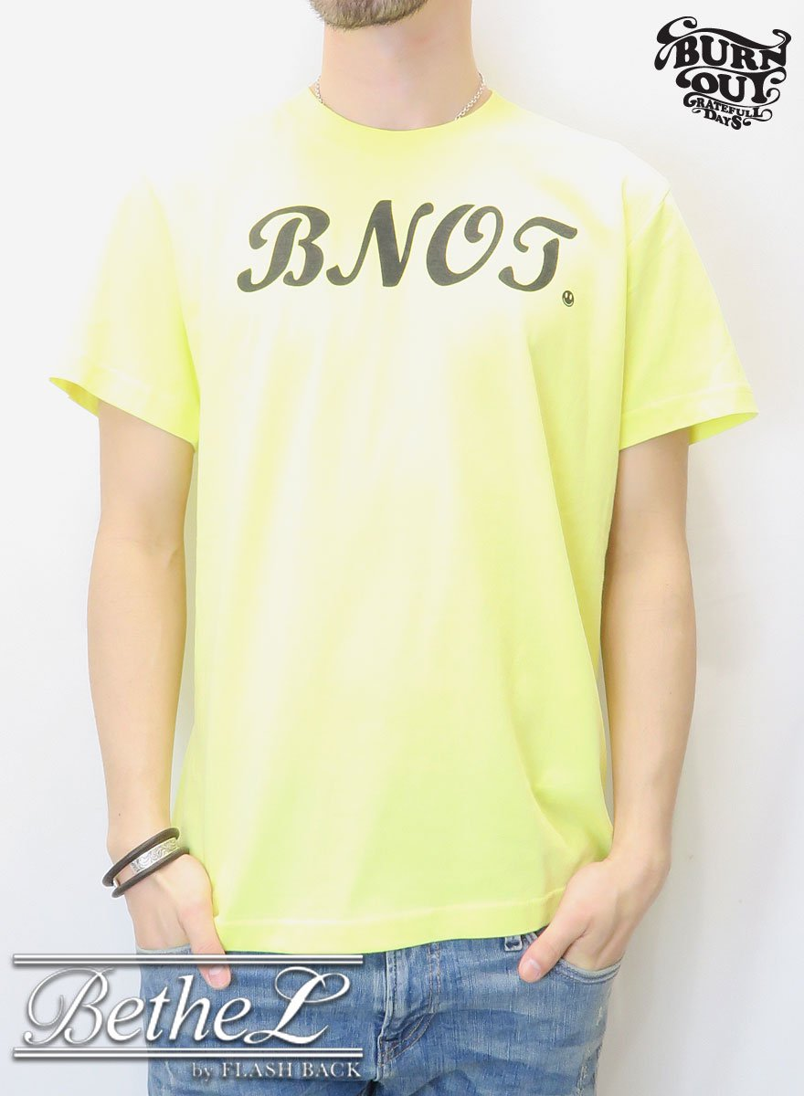 Burnout/バーンアウト WA-DO T-SHIRT YELLOW