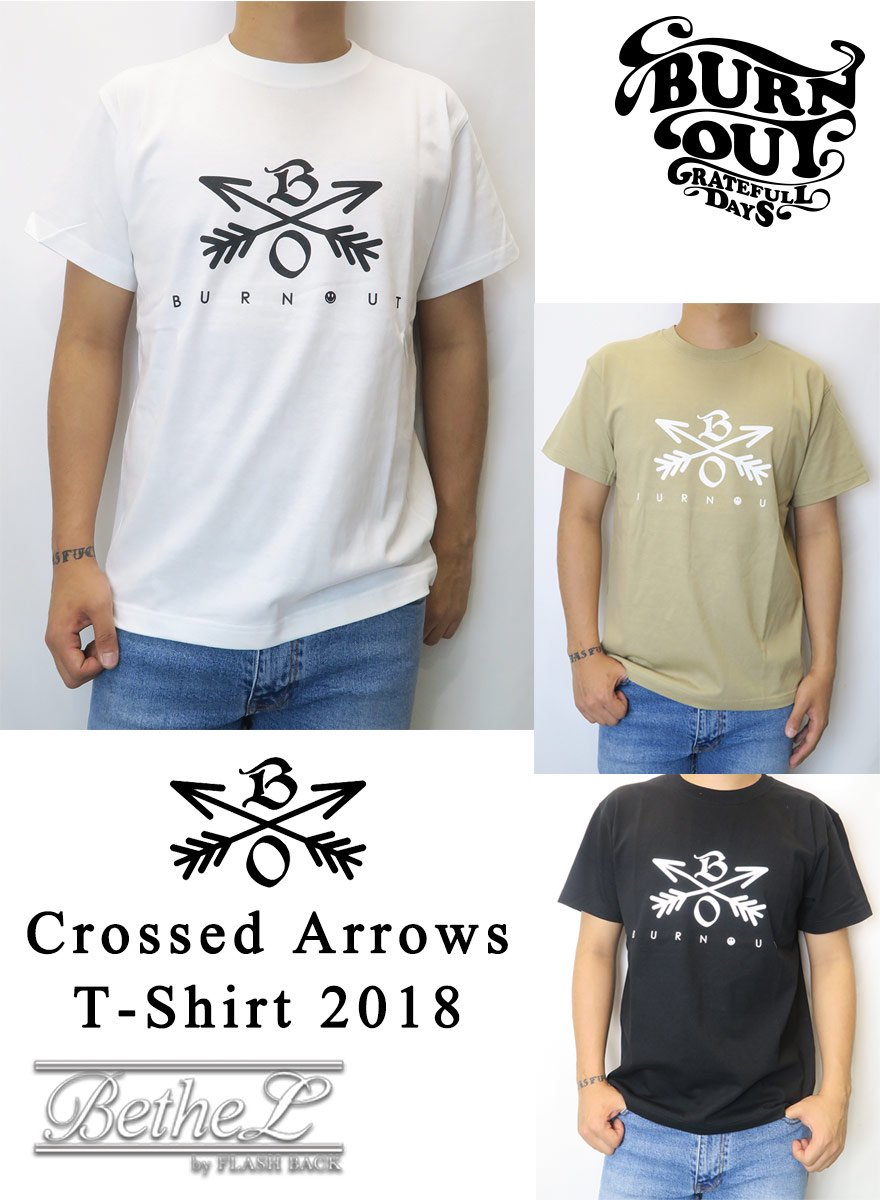 Burnout/バーンアウト CROSSED ARROWS T-SHIRT 2018