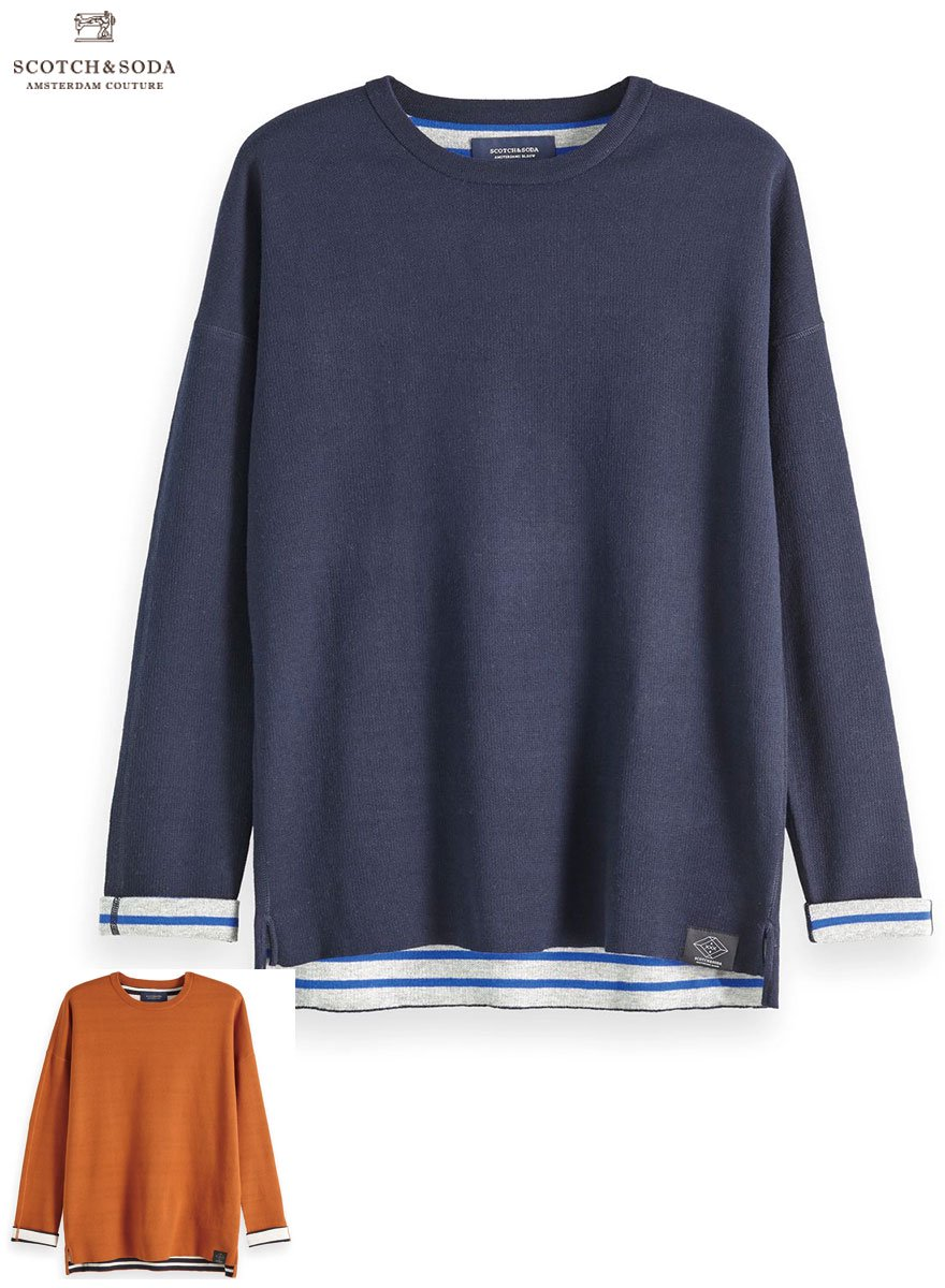 <img class='new_mark_img1' src='//img.shop-pro.jp/img/new/icons14.gif' style='border:none;display:inline;margin:0px;padding:0px;width:auto;' />SCOTCH&SODA/スコッチ&ソーダ  Reversible Contrast Pullover 2Color