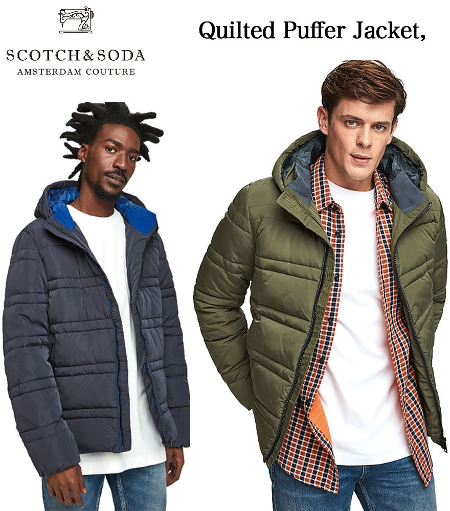 SCOTCH&SODA/スコッチ&ソーダ Quilted Puffer Jacket 全2色