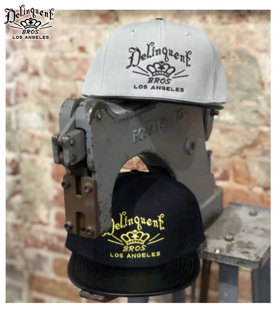 Delinquent Bros/デリンクエント ブロス  LOGO SNAP BACK