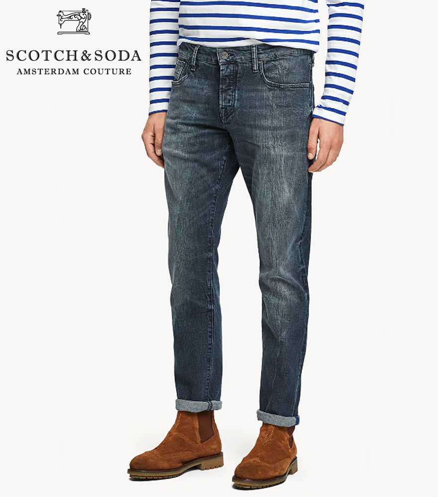 SCOTCH&SODA/スコッチ&ソーダ Ralston - Blue Street Regular slim fit 282-15539【154216】
