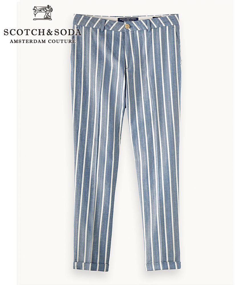 <img class='new_mark_img1' src='//img.shop-pro.jp/img/new/icons14.gif' style='border:none;display:inline;margin:0px;padding:0px;width:auto;' />SCOTCH&SODA/スコッチ&ソーダ トラウザーズパンツ FAVE-Regular Tapered Fit Stripe Trousers 292-11527 【155051】