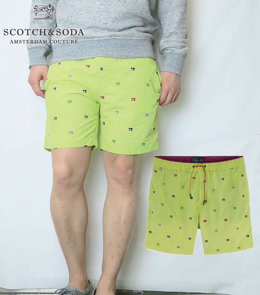 SCOTCH&SODA/スコッチ&ソーダ Mid-length All Over Embroidered Swim Short 292-18603 【154477】