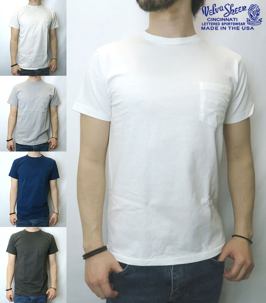 VELVA SHEEN/ベルバシーン POCKET CREW NECK T-SHIRT 全5色
