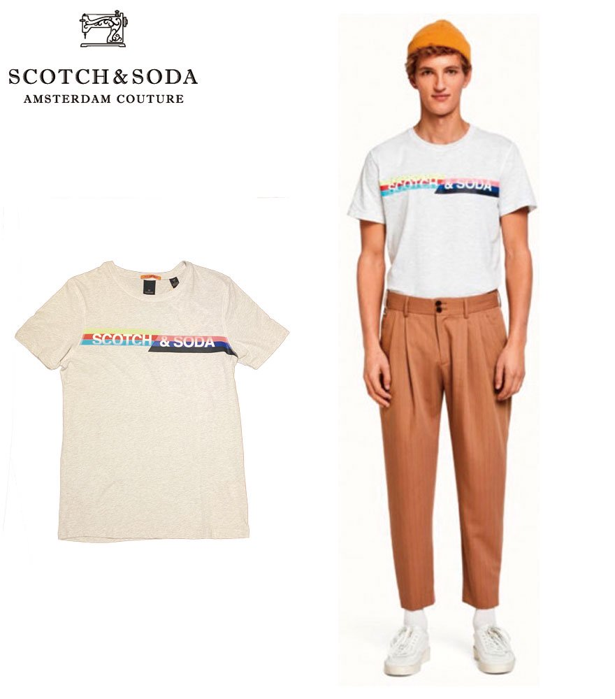 <img class='new_mark_img1' src='//img.shop-pro.jp/img/new/icons14.gif' style='border:none;display:inline;margin:0px;padding:0px;width:auto;' />SCOTCH&SODA/スコッチ&ソーダ プリントTシャツ Retro-inspired logo artwork T-Shirt  292-74444 【149037】