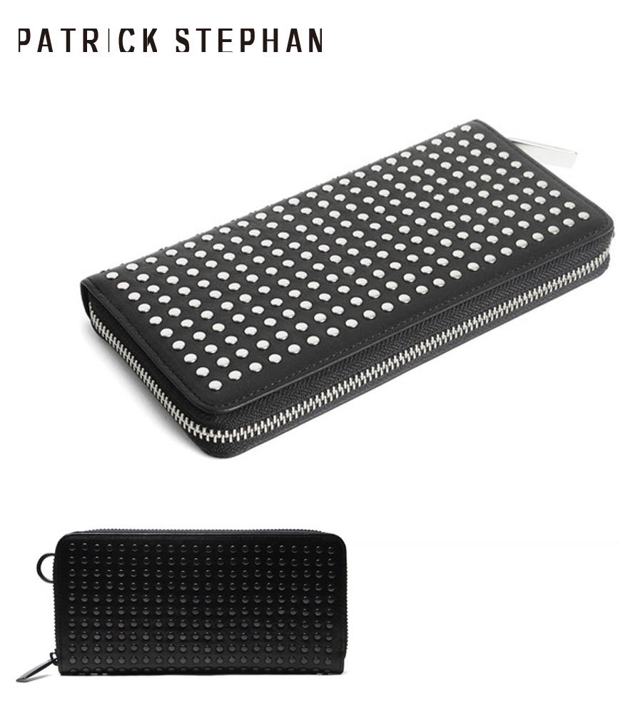 PATRICK STEPHAN/パトリックステファン ロングウォレット Leather long wallet fold 'all-studs' 2 RF 全2色