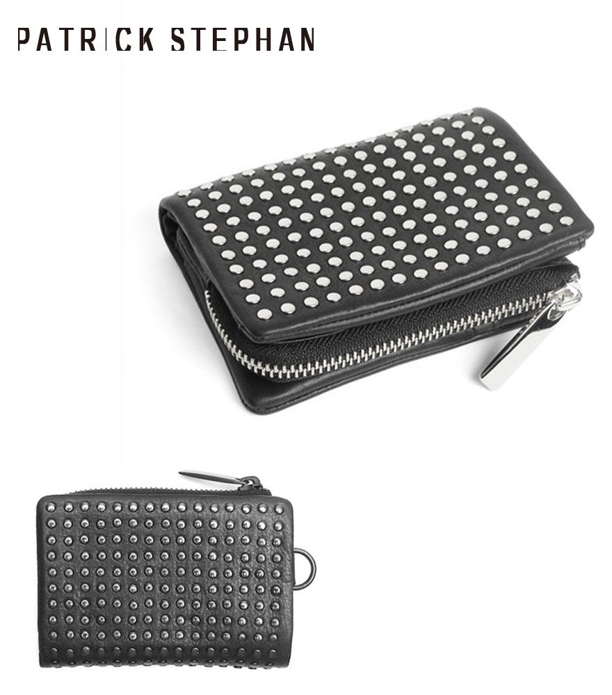 PATRICK STEPHAN/パトリックステファン ショートウォレット Leather micro wallet 'all-studs' 2 全2色