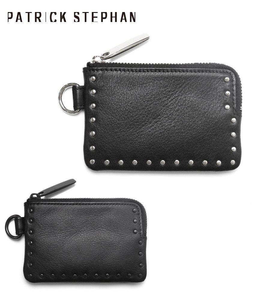 PATRICK STEPHAN/パトリックステファン コインケース Leather coin case 'corner studs' KS