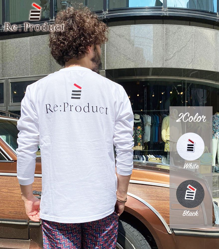 Re:Product/リプロダクト LOGO WAPPEN BACK PRINT L/S T-SHIRT 2Color