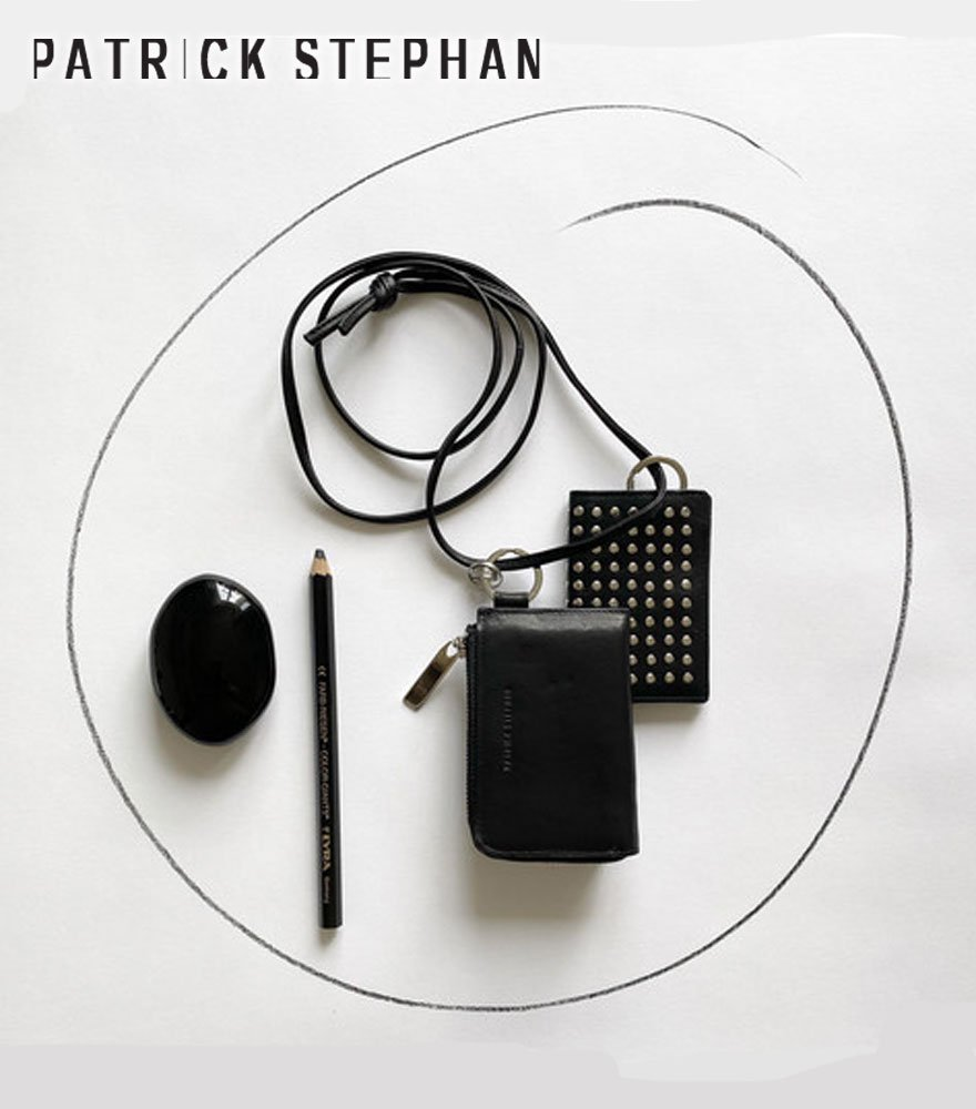 PATRICK STEPHAN/パトリックステファン ネックウォレット Leather wallet & card case 'empty-handed' all studs