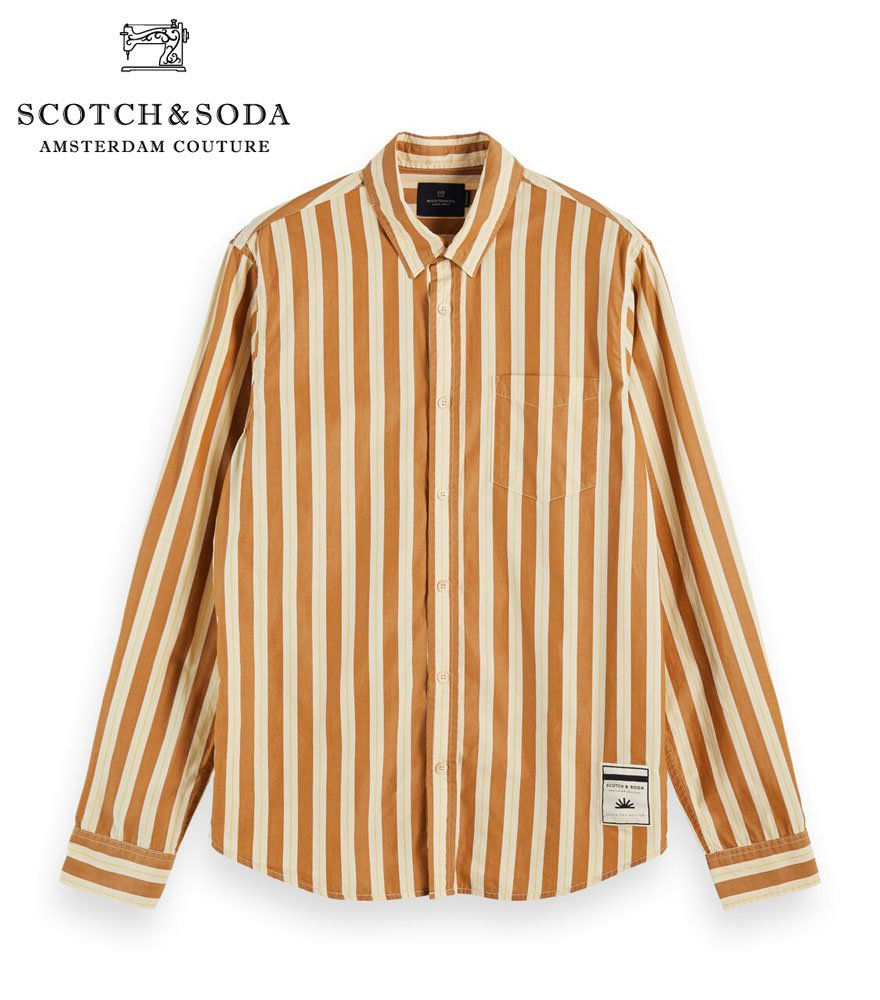 SCOTCH&SODA/スコッチ&ソーダ Striped cotton long sleeve shirt  282-21404 【156866】