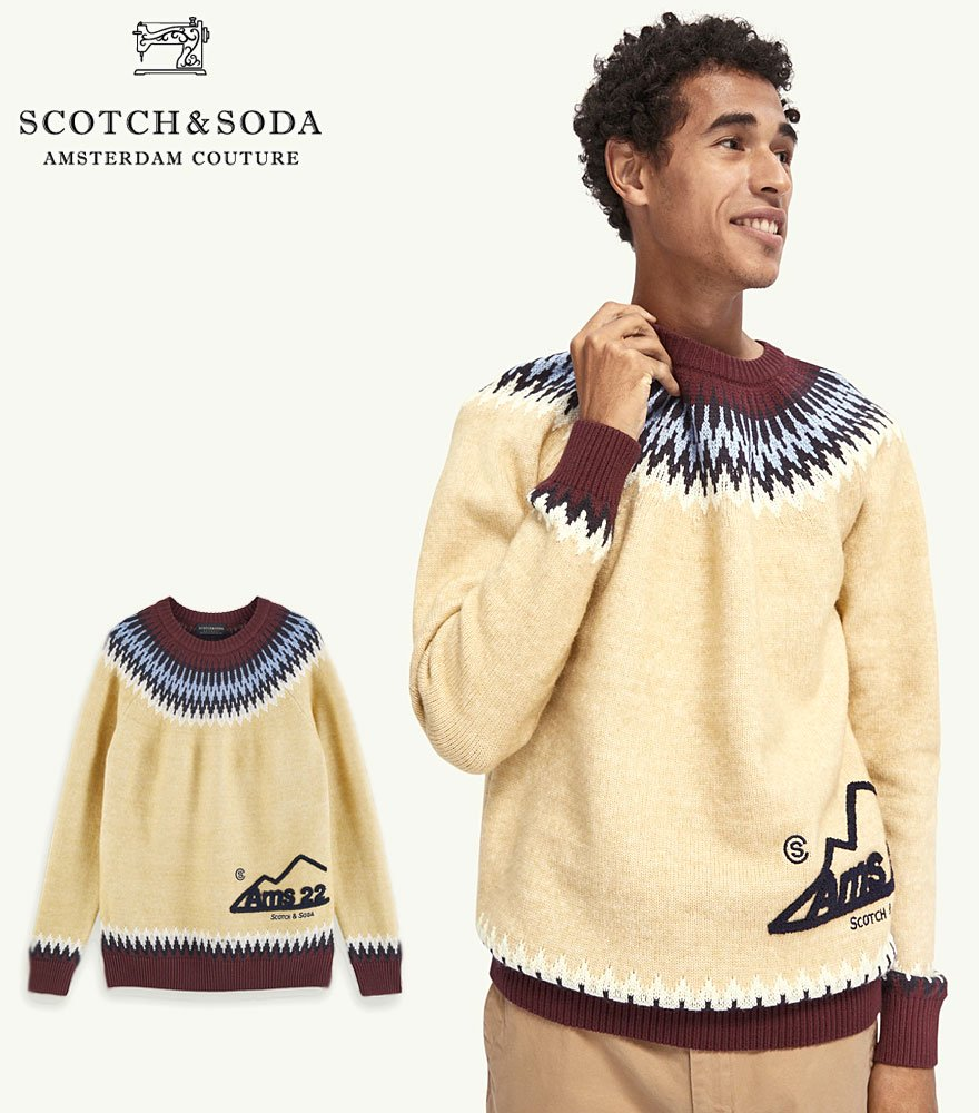 <img class='new_mark_img1' src='https://img.shop-pro.jp/img/new/icons14.gif' style='border:none;display:inline;margin:0px;padding:0px;width:auto;' />SCOTCH&SODA/スコッチ&ソーダ Wool-blend artwork detail pullover  292-25436 【158640】
