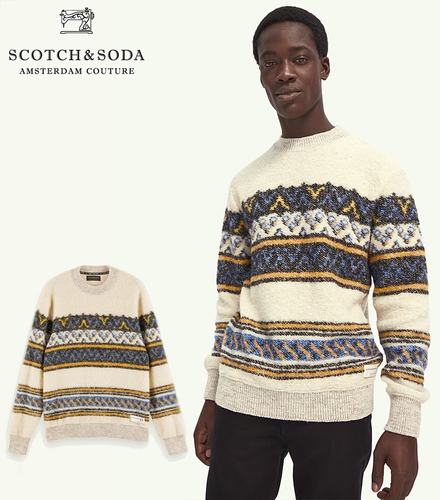<img class='new_mark_img1' src='https://img.shop-pro.jp/img/new/icons14.gif' style='border:none;display:inline;margin:0px;padding:0px;width:auto;' />SCOTCH&SODA/スコッチ&ソーダ Wool-blend boucle pullover  292-25401 【158591】