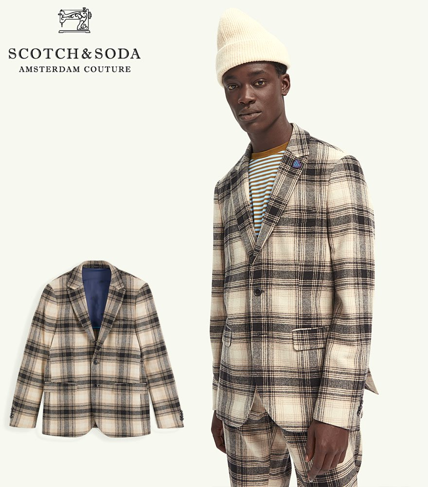 <img class='new_mark_img1' src='https://img.shop-pro.jp/img/new/icons14.gif' style='border:none;display:inline;margin:0px;padding:0px;width:auto;' />SCOTCH&SODA/スコッチ&ソーダ テーラードジャケット Classic single-breasted neps wool-blend