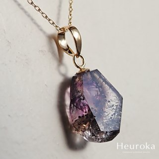 【 Heuroka 】アメジストのネックレス( スモーキー・レピドクロサイト・ゲーサイト )