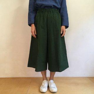 YAMMA 会津木綿のキュロット(ロング丈)グリーン