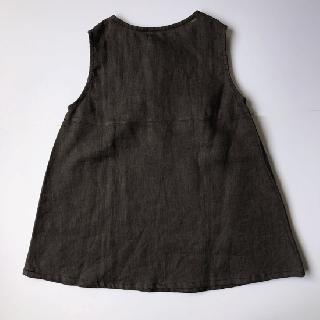 ヤオイタカスミ 前ボタンチュニック(100〜110サイズ)