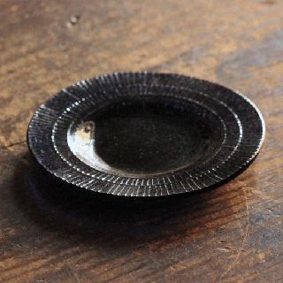 オオタ硝子研究室 ネイビーリム小皿