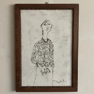 Nutel 絵画「女」