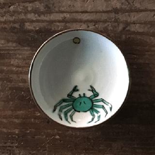 樋山真弓 月と蟹豆皿