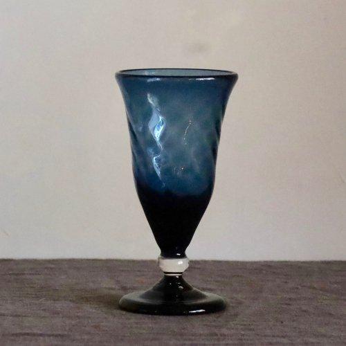 星耕硝子 シャンパングラス(ブルー)