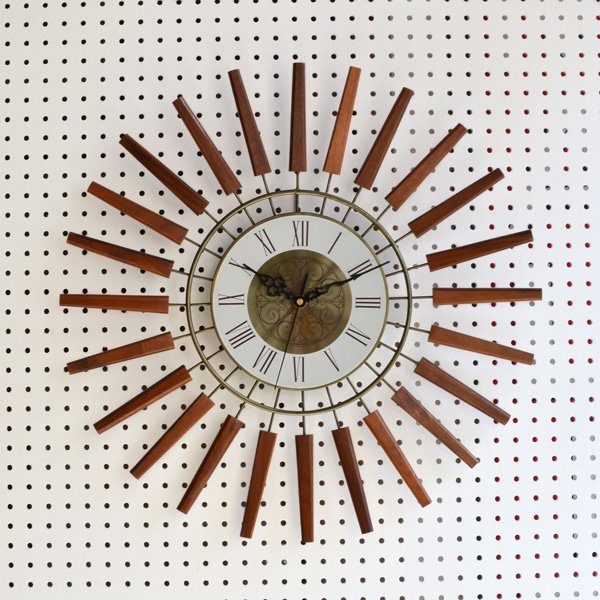1960's SUNBURST CLOCK
