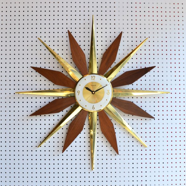 1960's 『FORESTVILLE』 SUNBURST CLOCK
