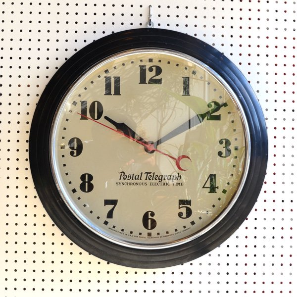 1940'S 『POSTAL TELEGRAPH』 SCHOOL CLOCK