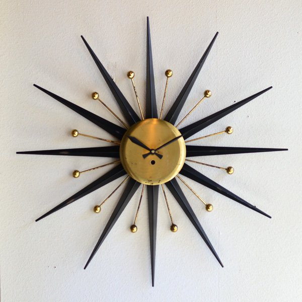 1950's  SUNBURST CLOCK