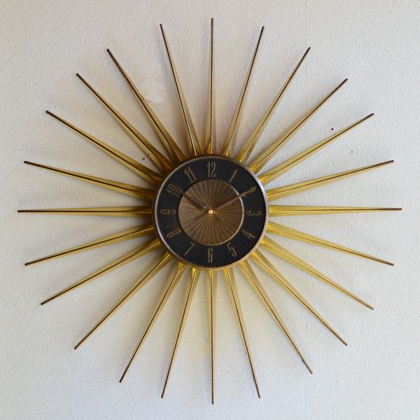 1950's 『ELGIN』 SUNBURST CLOCK