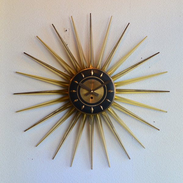 1950's 『WELBY』 SUNBURST CLOCK