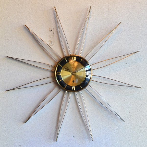 1950's 『DIEHL』 SUNBURST CLOCK