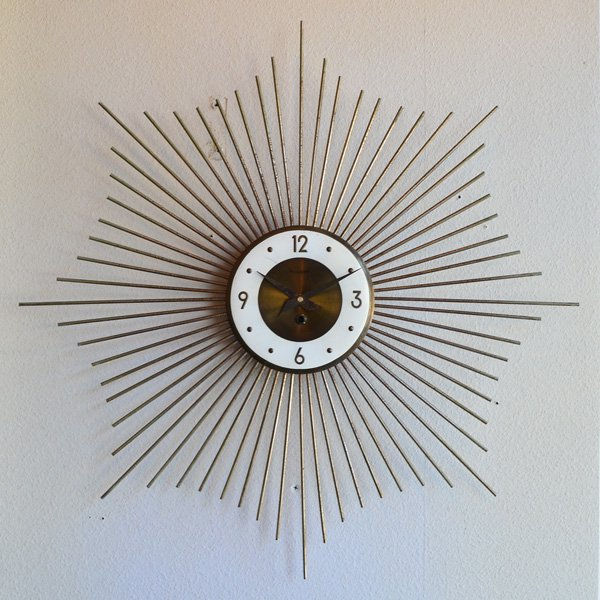 1950's 『FORESTVILLE』 SUNBURST CLOCK