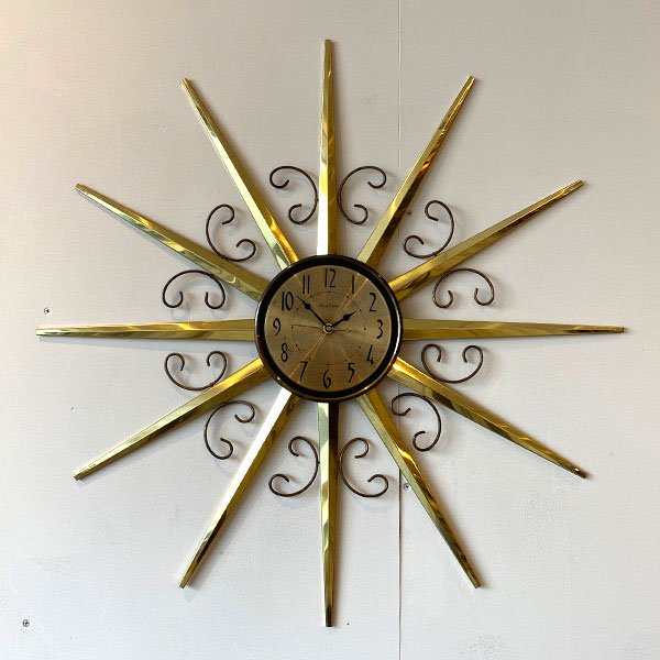 1950's  『PHINNEY WALKER』SUNBURST CLOCK