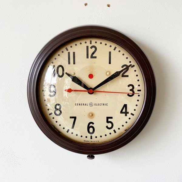 1940~50's 『GENERAL ELECTEIC』 SCHOOL CLOCK (SMALL)