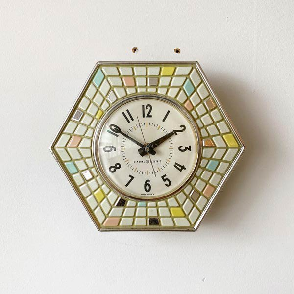 1960's 『GENERAL ELECTEIC』KITCHIN CLOCK (WHITE)