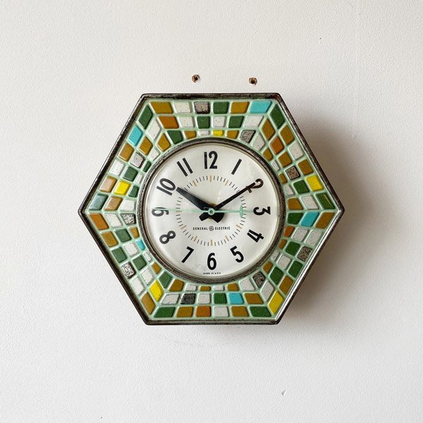 1960's 『GENERAL ELECTEIC』KITCHIN CLOCK (GREEN)