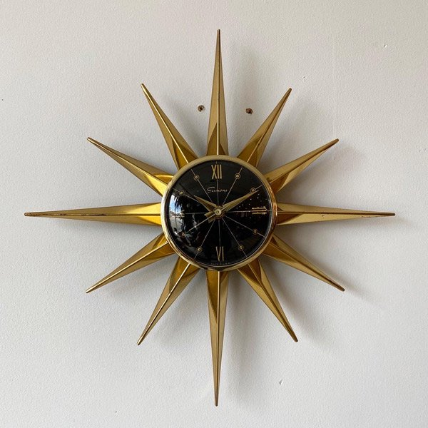 1950's 『SESSIONS』 SUNBURST CLOCK