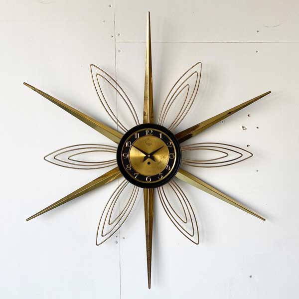 1950's 『VERICHRON』 SUNBURST CLOCK