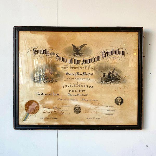 1919's ANTIQUE DIPLOMA