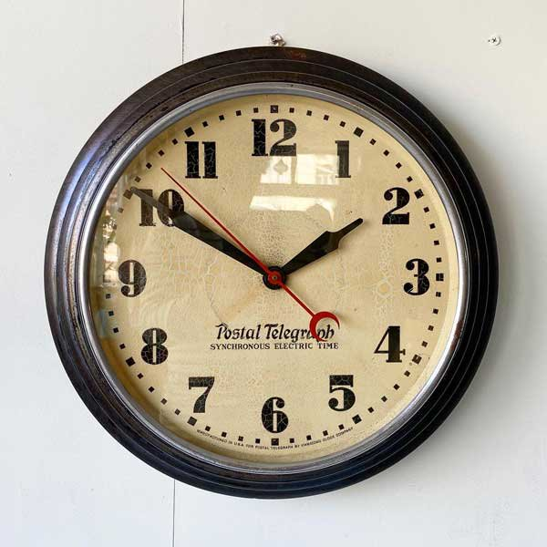 1930's 『POSTAL TELEGRAPH』 SCHOOL CLOCK (LARGE)