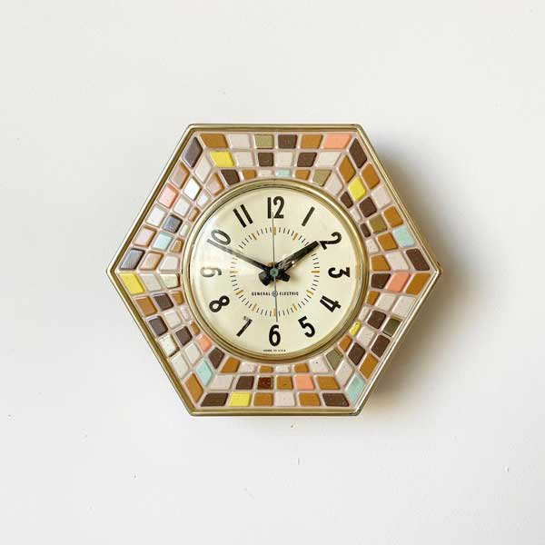1960's 『GENERAL ELECTEIC』KITCHIN CLOCK (PINK)