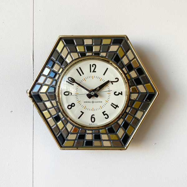 1960's 『GENERAL ELECTEIC』KITCHIN CLOCK (BLACK)