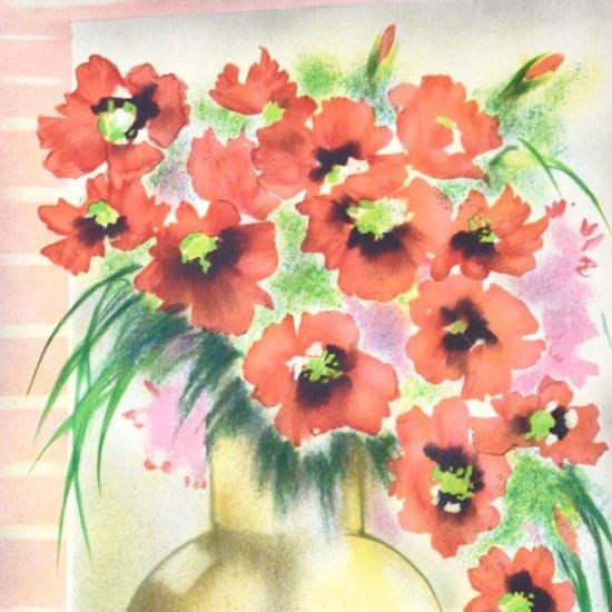 赤いアネモネ【レンタル使用品】